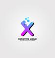 creative logo template logo technology vector image vector image