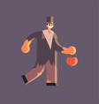 cute guy wearing horror scarecrow costume man in vector image