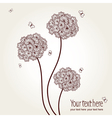 cute picture with hand-drawn flowers and butterfli vector image vector image