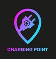 electric car charging station concept ev vector image