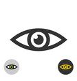 eye icon simple black line style eye symbol vector image vector image