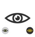 eye icon simple black line style symbol vector image vector image
