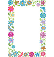 Floral frame with butterflies vector image