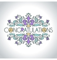 Floral ornament design template Congratulations vector image