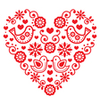 Folk art Valentines Day heart - love wedding vector image vector image