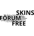 free forum skins text background word cloud vector image vector image