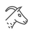 goat head farm animal line icon 48x48 vector image