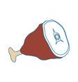 ham food cartoon vector image