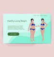 healthy losing weight concept two women of vector image