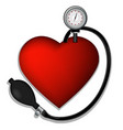 Heart pressure vector image vector image