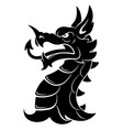heraldic dragon head simple vector image vector image