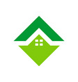 home residence logo green icon vector image
