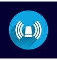 icon beacon siren isolated caution police white vector image vector image