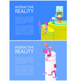 interactive reality technology vector image vector image