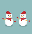 isolated happy snowman for presentation vector image