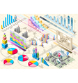 isometric infographic set elements vector image