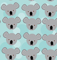 koala Seamless pattern with funny cute animal face vector image