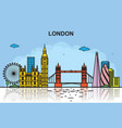 london city tour cityscape skyline colorful vector image