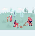 male and female characters spend time outdoor zoo vector image