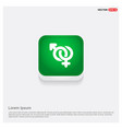 male and female symbols gender icon green web vector image
