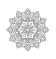 mandala in ethnic oriental style decorative vector image vector image