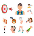 manipulation by hands cartoon icons in set vector image vector image