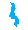 map malawi vector image vector image