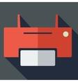 Modern flat design concept icon printer vector image vector image