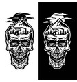 mountain head skull vector image vector image