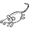 mouse or rat cartoon coloring page vector image vector image