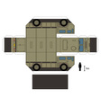 Paper model of a military truck vector image