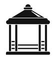 pavilion gazebo icon simple style vector image vector image