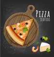 Pizza seafood slice vector image vector image