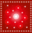 red backgroundwith stars vector image