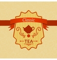 Retro tea label vector image vector image