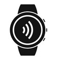 round smartwatch icon simple style vector image vector image