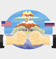 russia vs america nuclear explosion vector image vector image