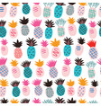 seamless pattern with tropical fruits - pineapples vector image vector image