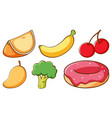set many kinds fruits and sweets vector image