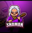 shaman mascot esport logo design vector image vector image