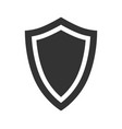silhouette of a protective shield in a simple vector image