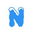 snow letter logo n vector image