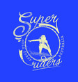 super riders vector image vector image