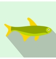 Trout fish icon flat style vector image vector image