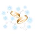 vector golden wedding rings vector image
