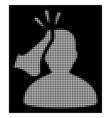 white halftone kickboxer icon vector image vector image