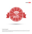 wifi icon logo - red ribbon banner vector image