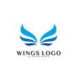 Wing logo color wing logo design concept template