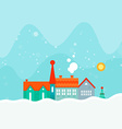 Winter Card Template vector image vector image