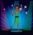 woman disco dancing vector image vector image